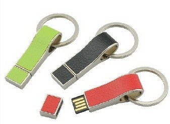 Leather USB flash drive with high quality memory U313