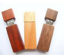 Wooden USB drive with sumsung flash memory chipset U537