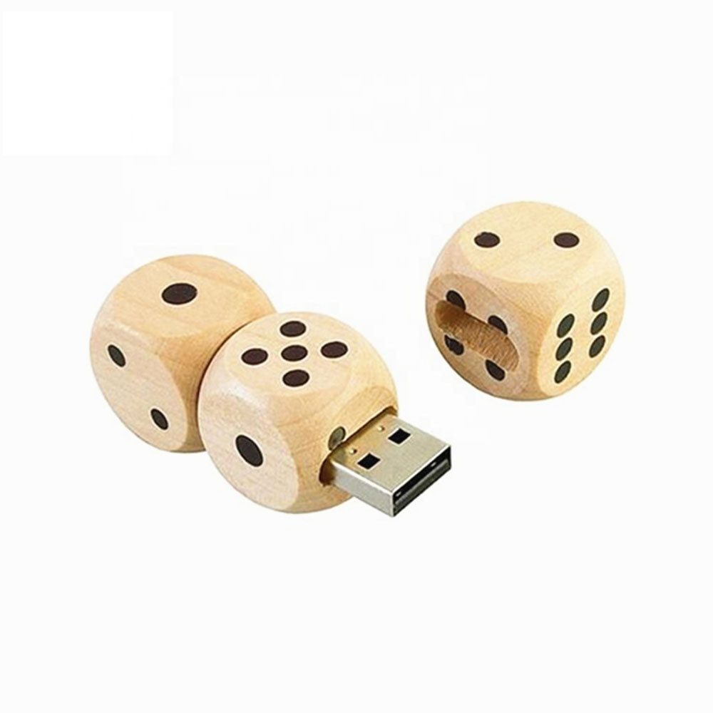 Novelty wooden Dice usb flash drive U661
