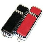 Leather USB drive, Square shape USB drive with stainless edge U306