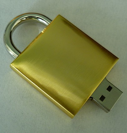 Golden Lock USB Drive, Top-class USB flash disk U103